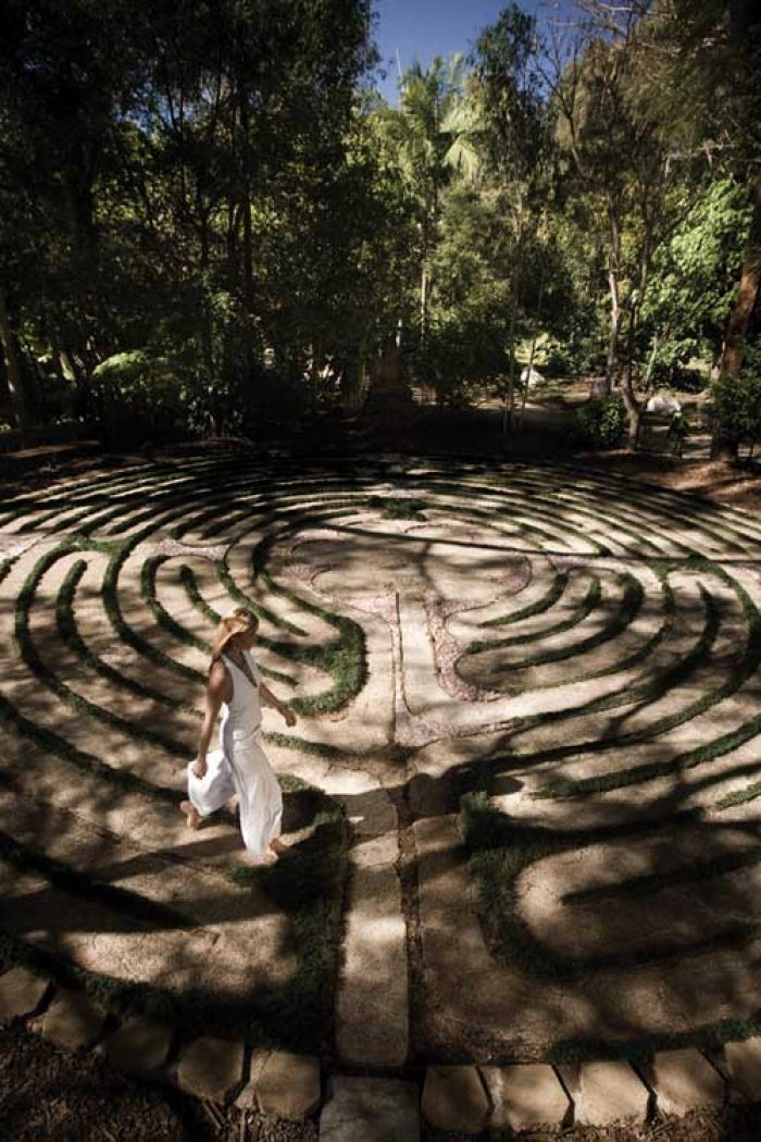 Labyrinth at the Crystal Castle, Byron Shire