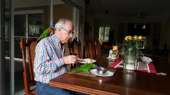 Marvey & Agapi & Philip having lunch