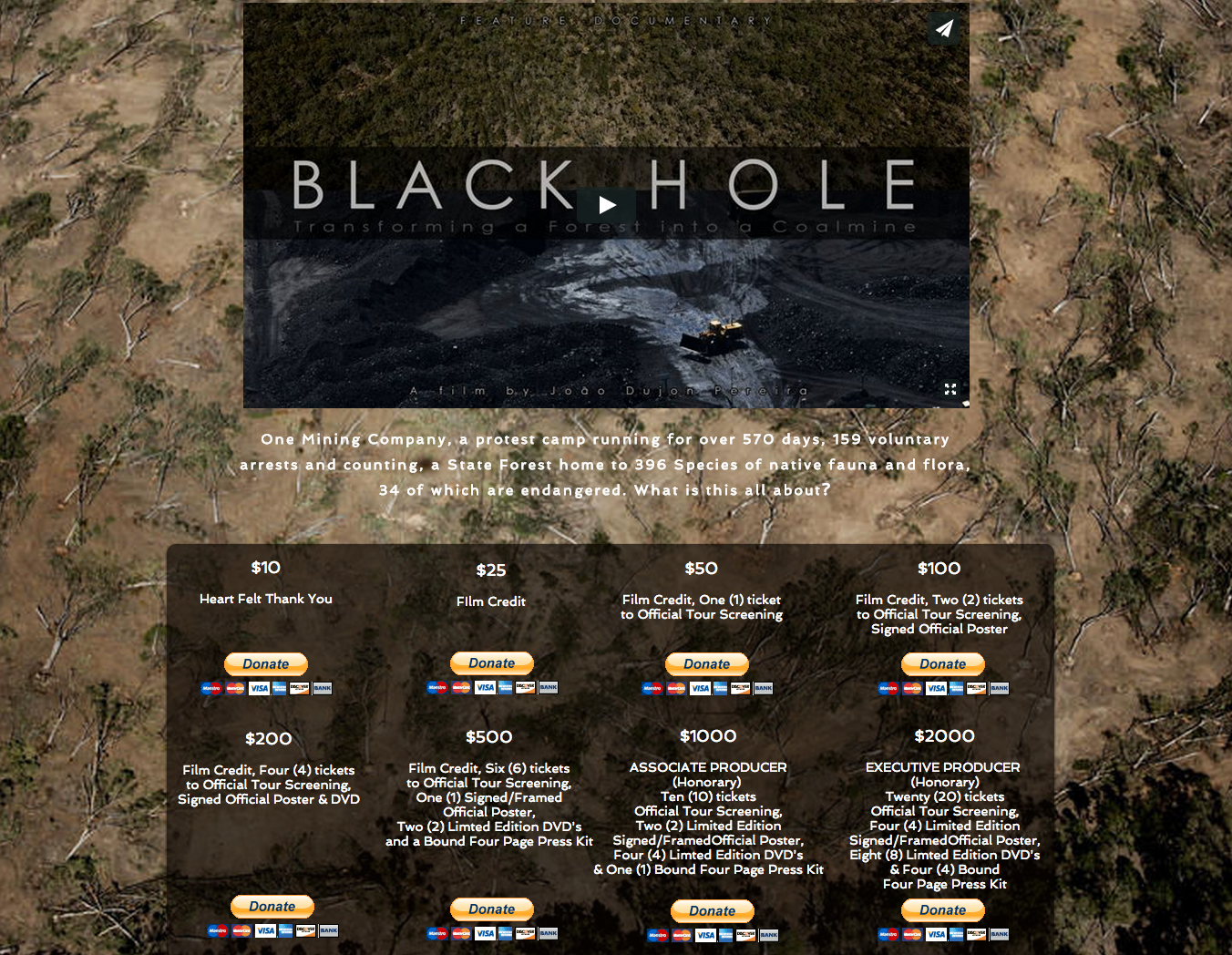 Black Hole Website
