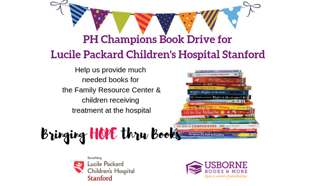 Book Drive for Lucile Packard Children's Hospital Stanford | Chuffed