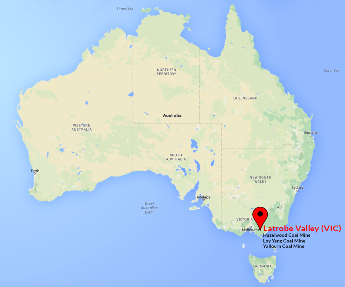 THE LATROBE VALLEY IN RELATION TO AUSTRALIA