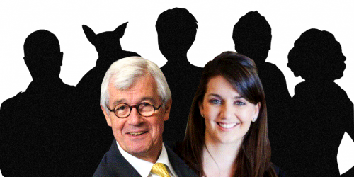 Julian Burnside, Jessie Taylor and team of comedians