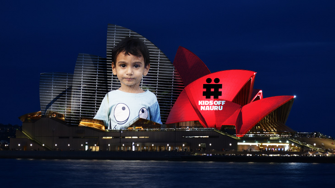 Put #KidsOffNauru on the Sydney Opera House